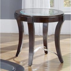 Buy Liberty Furniture Avalon 28x24 Oval End Table in Dark Wood on sale online