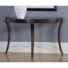 Buy Liberty Furniture Avalon 48x18 Half Moon Sofa Table in Dark Wood on sale online
