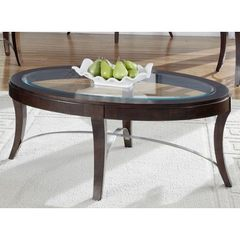 Buy Liberty Furniture Avalon 48x28 Oval Cocktail Table in Dark Wood on sale online