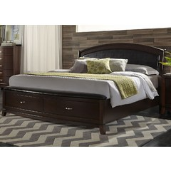 Buy Liberty Furniture Avalon Storage Bed in Dark Truffle on sale online