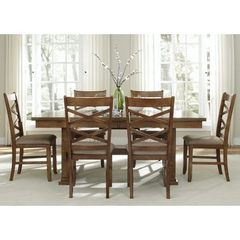 Buy Liberty Furniture Bistro 7 Piece 72x40 Trestle Dining Room Set on sale online