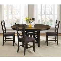 Buy Liberty Furniture Bistro II 5 Piece 66x48 Oval Pedestal Dining Room Set on sale online