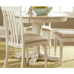 Buy Liberty Furniture Bluff Cove II 60x42 Oval Pedestal Table in Weathered Sand on sale online