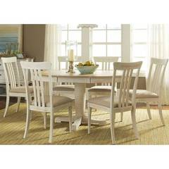Buy Liberty Furniture Bluff Cove II 7 Piece 60x42 Oval Pedestal Dining Room Set on sale online