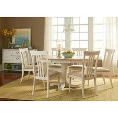 Buy Liberty Furniture Bluff Cove II 8 Piece 60x42 Oval Pedestal Dining Room Set on sale online