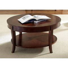 Buy Liberty Furniture Bradshaw 38 Inch Round Cocktail Table in Rich Cherry on sale online