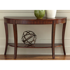Buy Liberty Furniture Bradshaw 48x18 Half Moon Sofa Table in Rich Cherry on sale online