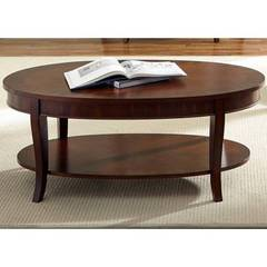 Buy Liberty Furniture Bradshaw 48x28 Oval Cocktail Table in Rich Cherry on sale online