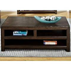 Buy Liberty Furniture Brayden 49x28 Rectangular Cocktail Table in Weathered Bark on sale online
