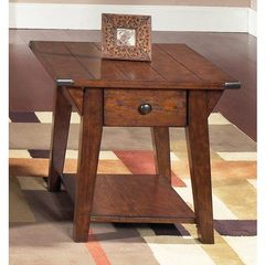 Buy Liberty Furniture Cabin Fever 28x24 Rectangular Drawer End Table in Brown on sale online