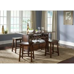 Buy Liberty Furniture Cabin Fever 5 Piece 60x36 Kitchen Island in Brown, Dark Wood on sale online