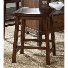 Buy Liberty Furniture Cabin Fever Sawhorse 24 Inch Counter Height Stool in Brown, Dark Wood on sale online