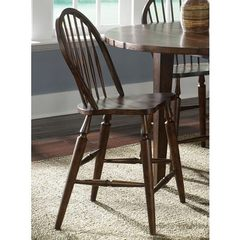 Buy Liberty Furniture Cabin Fever Windsor Back Counter Height Stool in Brown, Dark Wood on sale online