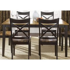 Buy Liberty Furniture Cafe Collections Acacia 60x36 Rectangular Dining Table in Light and Dark Wood on sale online