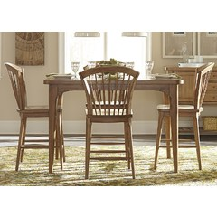 Buy Liberty Furniture Candler Dining 5 Piece 54x54 Square Table Set on sale online
