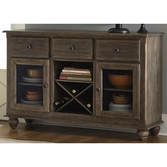 Buy Liberty Furniture Candlewood Server w/ 3 Drawers and 1 Shelf on sale online