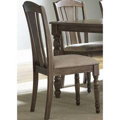 Buy Liberty Furniture Candlewood Slat Back Side Chair in Weather Gray on sale online