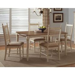 Buy Liberty Furniture Cottage Cove 5 Piece 62x40 Dining Room Set in Light Wood, Ivory on sale online