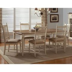 Buy Liberty Furniture Cottage Cove 7 Piece 80x40 Dining Room Set in Light Wood, Ivory on sale online