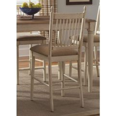 Buy Liberty Furniture Cottage Cove Traditional Counter Height Chair in Ivory, Beige on sale online