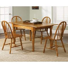 Buy Liberty Furniture Country Haven 5 Piece 60x36 Butterfly Leaf Dining Room Set in Brown, Light Wood on sale online
