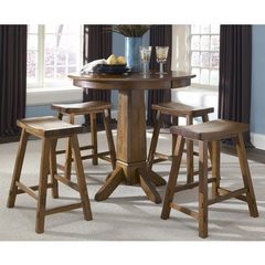 Buy Liberty Furniture Creations II 5 Piece 36x36 Round Pub Table Set in Tobacco on sale online
