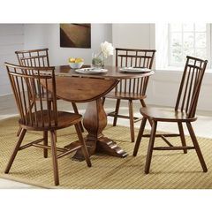 Buy Liberty Furniture Creations II 5 Piece 42x42 Round Dining Room Set in Tobacco on sale online