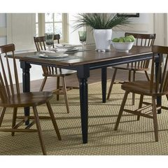 Buy Liberty Furniture Creations II 66x36 Rectangular Dining Table in Tobacco and Black on sale online