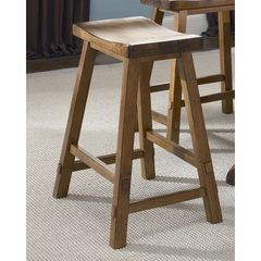 Buy Liberty Furniture Creations II Traditional 30 Inch Sawhorse Backless Barstool in Medium Wood on sale online