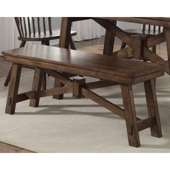 Buy Liberty Furniture 48x14 Inch Creations II Traditional Bench in Medium Wood on sale online