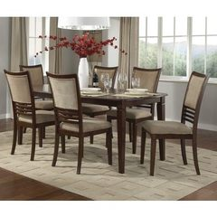Buy Liberty Furniture Davenport 7 Piece 78x40 Dining Room Set in Medium Wood on sale online