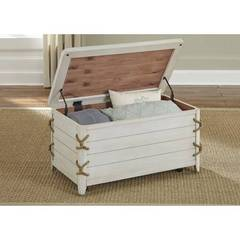 Buy Liberty Furniture Dockside II Storage Trunk in White on sale online