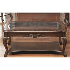 Buy Liberty Furniture Eden Park 48x28 Rectangular Cocktail Table in Cherry, Dark Wood on sale online