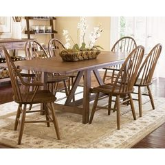 Buy Liberty Furniture Farmhouse 7 Piece 102x40 Dining Room Set in Oak on sale online
