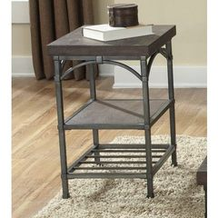 Buy Liberty Furniture Franklin 20x16 Rectangular Chairside Table in Dark Wood on sale online