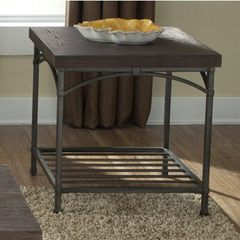 Buy Liberty Furniture Franklin 27x23 Rectangular End Table in Dark Wood on sale online