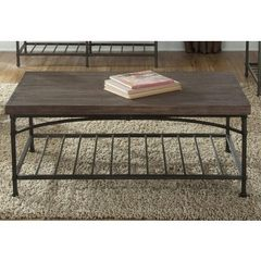 Buy Liberty Furniture Franklin 46x26 Rectangular Cocktail Table in Dark Wood on sale online