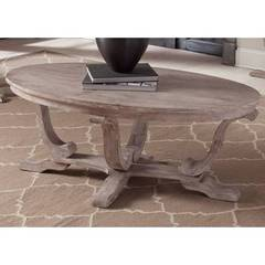 Buy Liberty Furniture Greystone Mill Traditional 48x28 Oval Cocktail Table on sale online