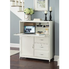 Buy Liberty Furniture Hampton Bay White Computer Cabinet on sale online