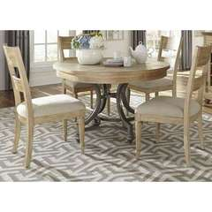 Buy Liberty Furniture Harbor View 5 Piece 42x42 Round Dining Room Set in Sand on sale online