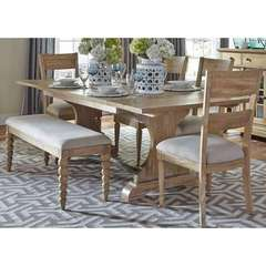 Buy Liberty Furniture Harbor View 6 Piece 94x42 Rectangular Dining Room Set w/ Bench on sale online