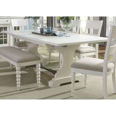 Buy Liberty Furniture Harbor View II 94x42 Rectangular Trestle Table in White on sale online