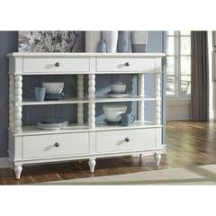 Buy Liberty Furniture Harbor View II Sideboard w/ 4 Drawers in White on sale online