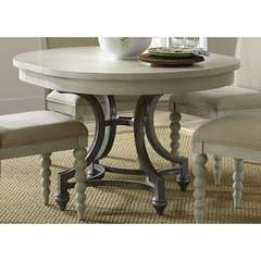 Buy Liberty Furniture Harbor View III 54x42 Oval Dining Table in Dove Gray on sale online