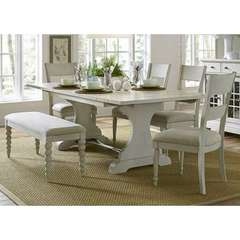 Buy Liberty Furniture Harbor View III 6 Piece 94x42 Rectangular Dining Room Set in Ivory on sale online