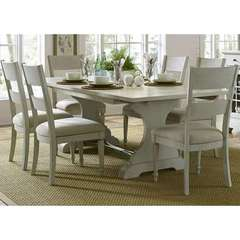 Buy Liberty Furniture Harbor View III 7 Piece 94x42 Rectangular Dining Room Set in Ivory on sale online