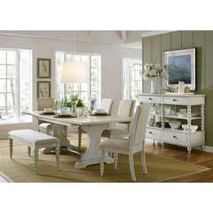 Buy Liberty Furniture Harbor View III 7 Piece 94x42 Rectangular Dining Room Set w/ Bench on sale online