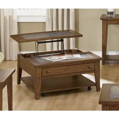Buy Liberty Furniture Hearthstone 38x38 Square Lift Top Cocktail Table in Oak on sale online