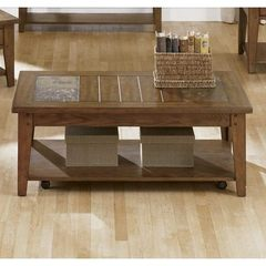 Buy Liberty Furniture Hearthstone 48x28 Rectangular Cocktail Table in Oak on sale online