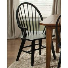 Buy Liberty Furniture Hearthstone Windsor Back Arm Chair in Black on sale online